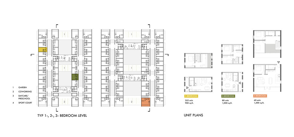 Unit Plans  01  /  Multi-Bedroom Units
