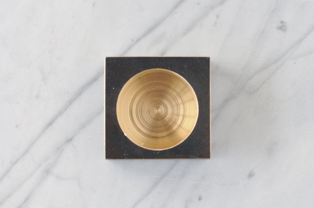 Photo 12/  Blackened Brass Tea Light Holder