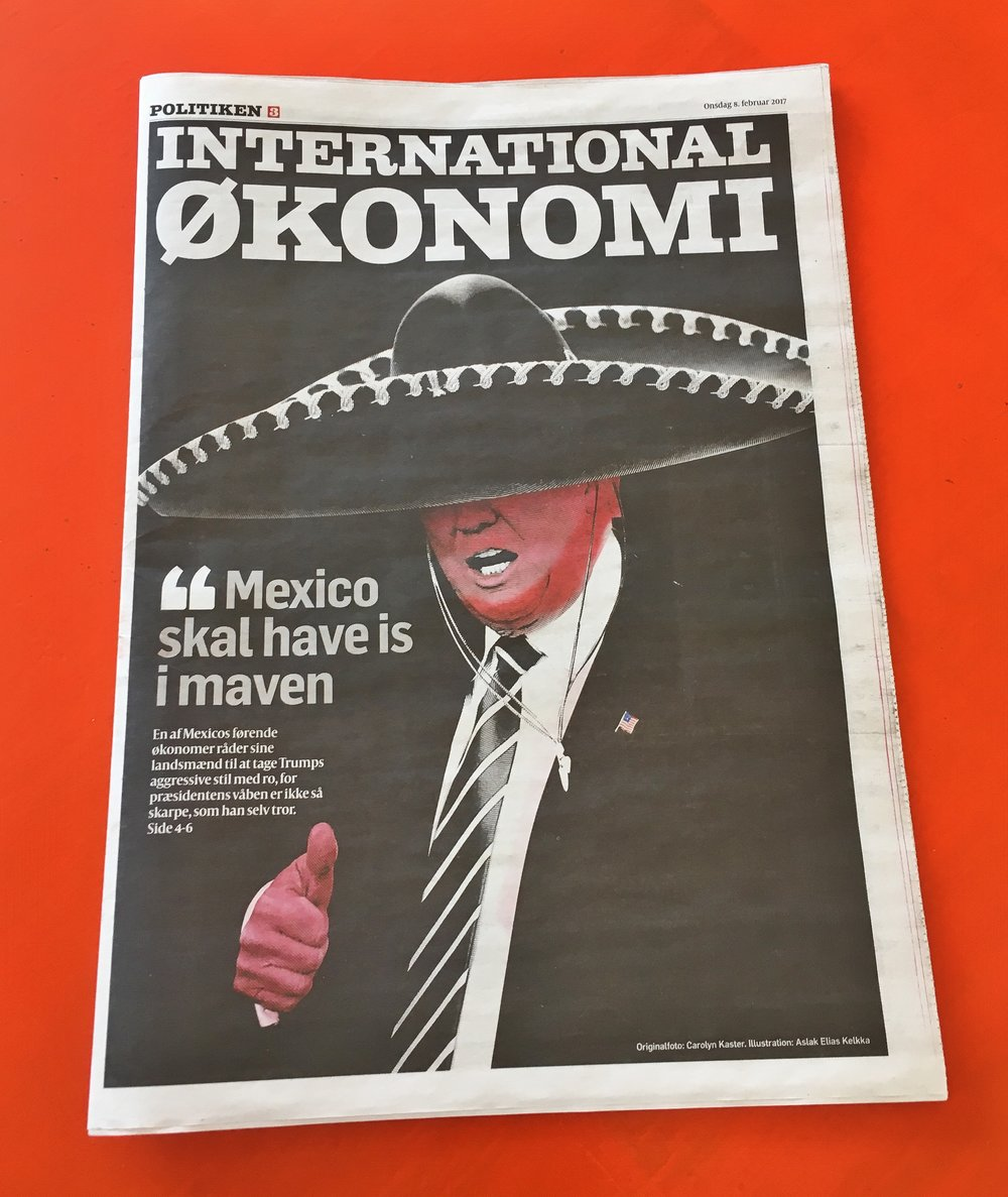 Danish Newspaper, photo by Buddy Burkhalter
