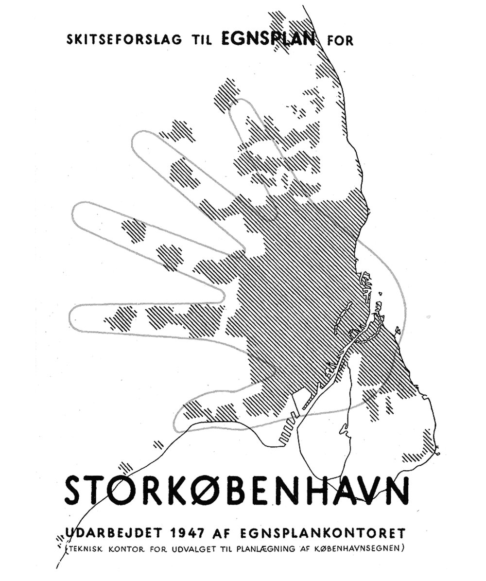 The Finger Plan for Greater Copenhagen Area,image from City of Copenhagen.