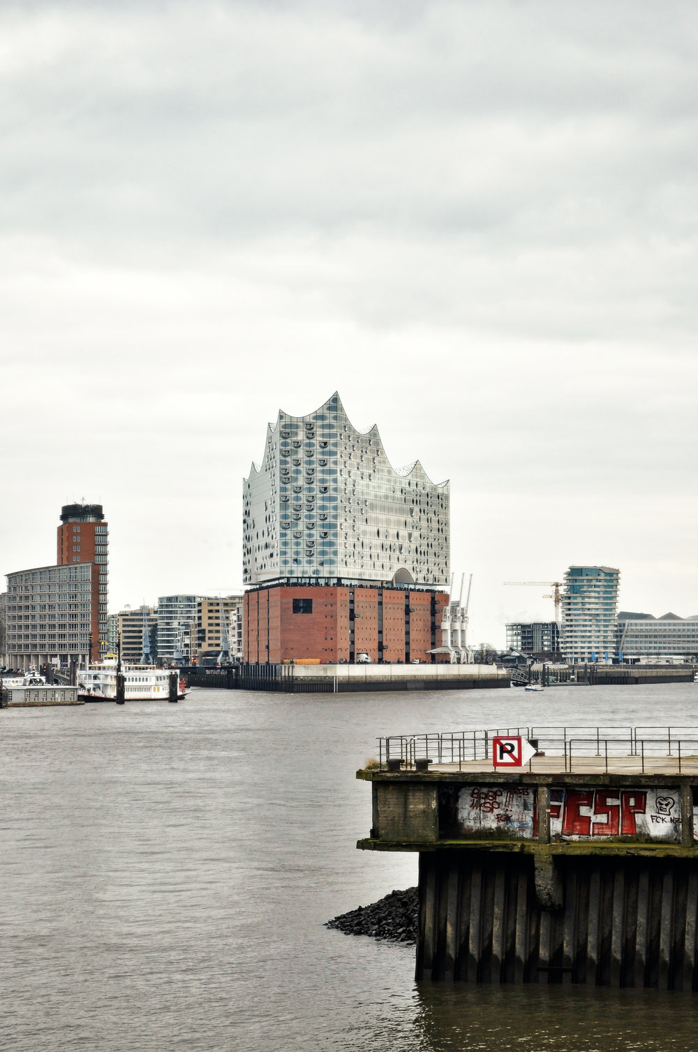 Elbphilharmoniefrom the harbor, photo by author