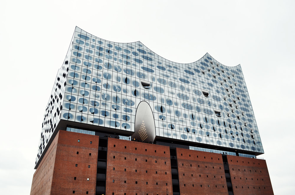 Elbphilharmonie from the city, photo by author
