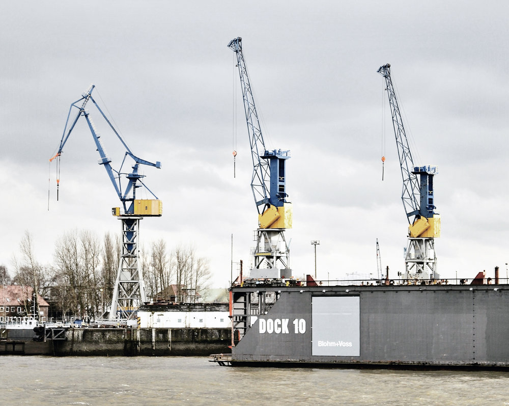 Hamburg Cranes, photo by author