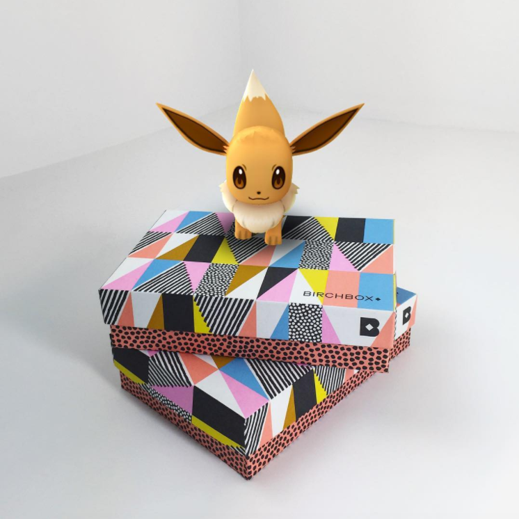 When Eevee crashes your photo studio at work.  #pokemongo  #DesignPackaging   #birchbox