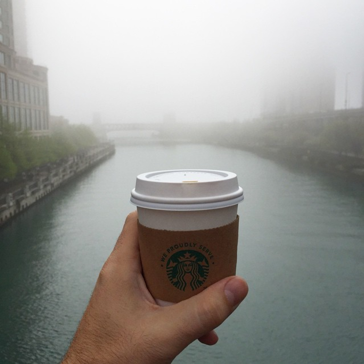 It's a foggy morning in   #Chicago for  #HOWlive  but at least I can still see the coffee in front of me.   #priorities   #DPforDL