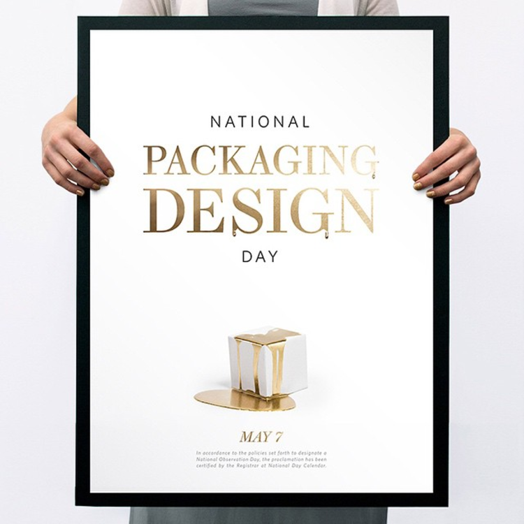 """SAVE THE DATE! National Packaging Design Day - May 7 """"Packaging designers and enthusiasts finally have a day of their own, to recognize talent, and to think outside the box"""" - @robrepta  @designpackaging  #packagingdesignday"""