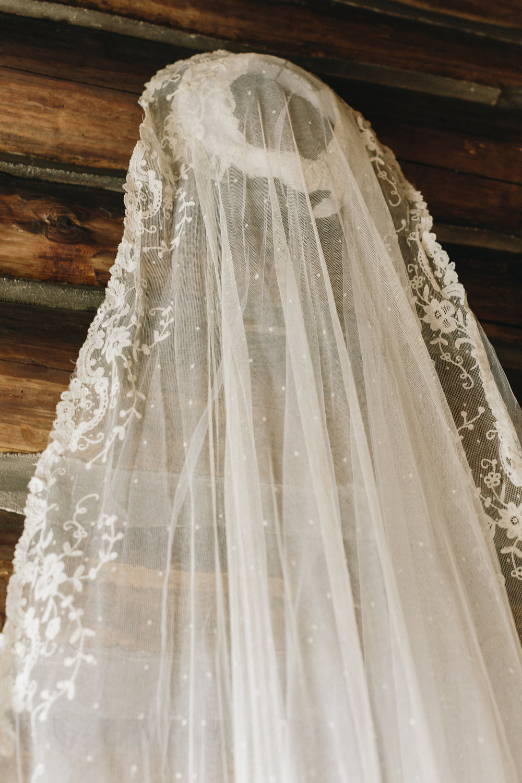 My great grandmother's wedding veil. Photos by  Mackensey Alexand er