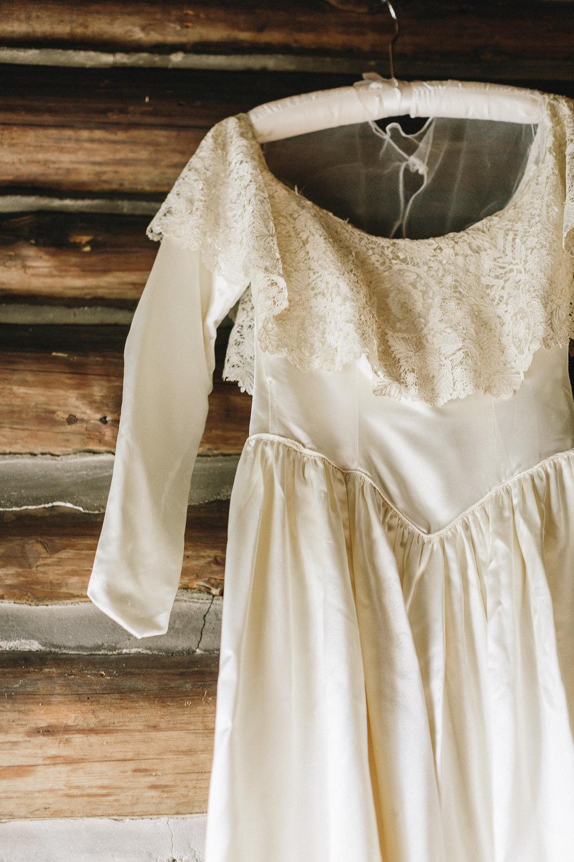 My grandmother's wedding dress. Photos by  Mackensey Alexand er