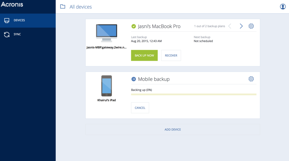 The Online Dashboard allows you to manage your devices with ease.