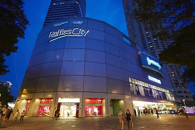 Decently priced, Raffles City Shopping Center is a popular parking destination with shoppers in the area who do not mind the ten minute walk through the underpass.