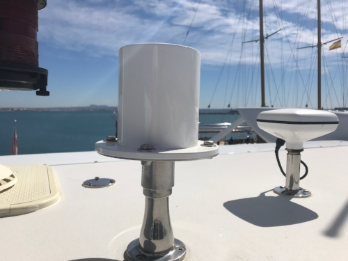 protac 5311, 4G antenna, installed on a Superyacht