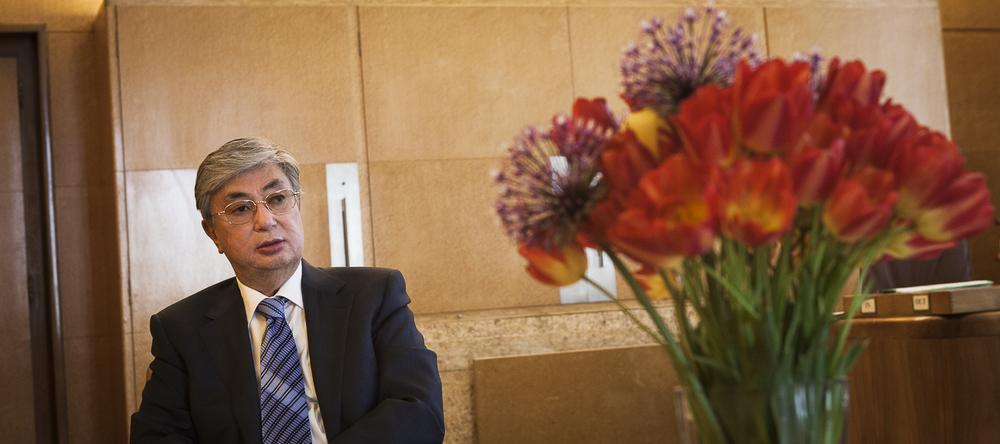 Kassym-Jomart Tokayev vu par Alberto Campi / Palais des Nations, Genève, 7 mai 2013
