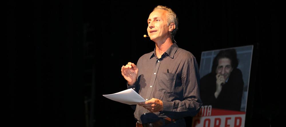 Le journaliste Marco Travaglio, co-directeur du quotidien  Il Fatto Quotidiano.  © Charlotte Julie / Genève