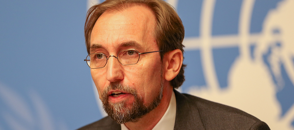 Le Haut-Commissaire aux droits de l'Homme Zeid Ra'ad Al Hussein. © ONU Photo