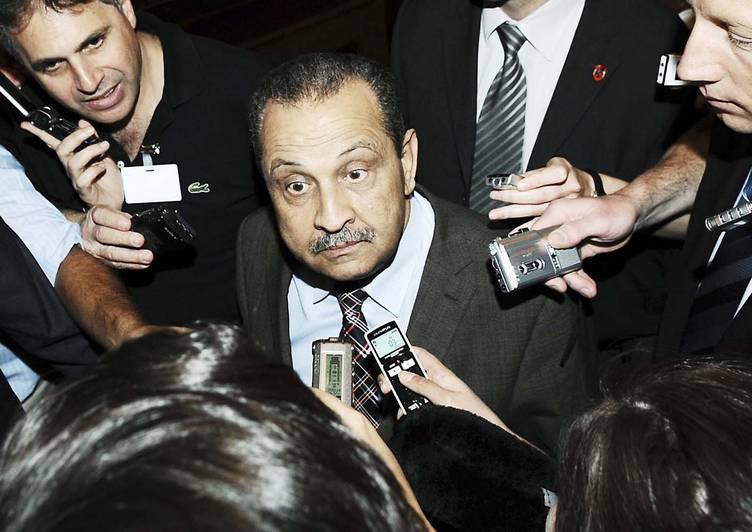 Chokri Ghanem, ancien ministre du pétrole libyen de Muammar Khadafi. © Samuel Kubani / AFP / NTB