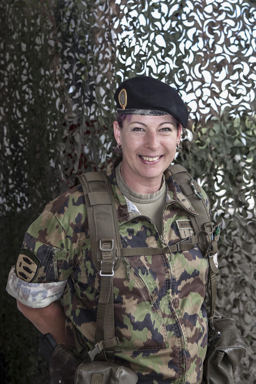 Major Vania Keller, militaire de carrière. © DR / Bure, 2012.