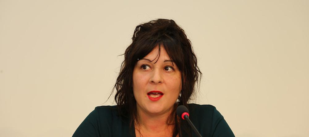La directrice du festival, Sara Cereghetti, vue par © Charlotte Julie / Octobre 2015