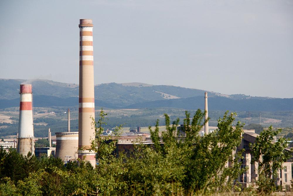 Les usines situées en plein centre-ville de Pernik sont l'une des principales sources de pollution. © Léonor Lumineau / 5 août 2015