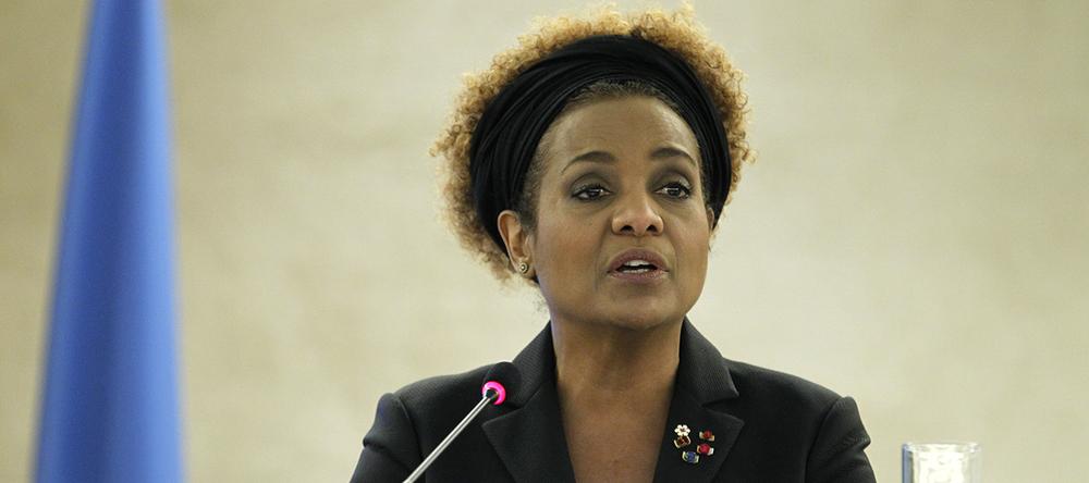 Michaëlle Jean vue par © UN Photo / Pierre Albouy / Palais des Nations, Genève, 29 février 2016