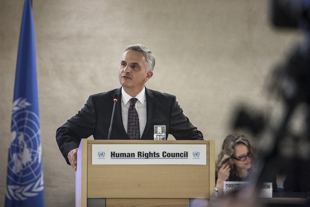 Didier Burkhalter, chef du Département fédéral des affaires étrangères. © Alberto Campi / Palais des Nations, Genève, 29 février 2016