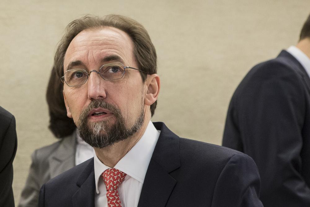 Le Haut-Commissaire chargé des droits de l'Homme, Zeid Ra'ad Al Hussein. © Alberto Campi / Palais des Nations, Genève, 29 février 2016