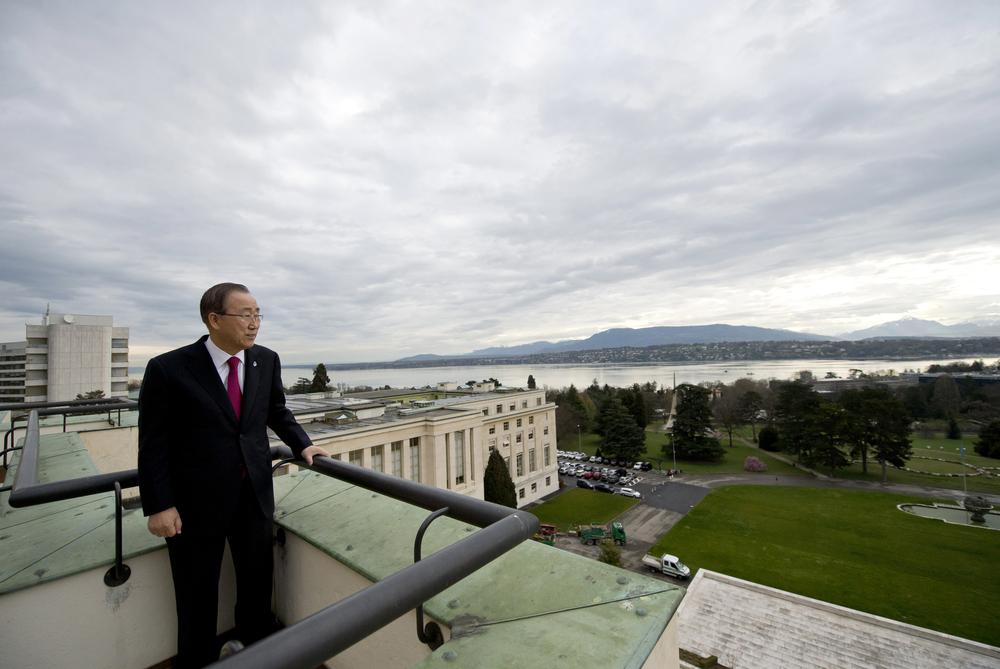 30 mars 2016. Ban Ki-Moon à l'ONU de Genève © Jean-Marc Ferré / ONU Photo