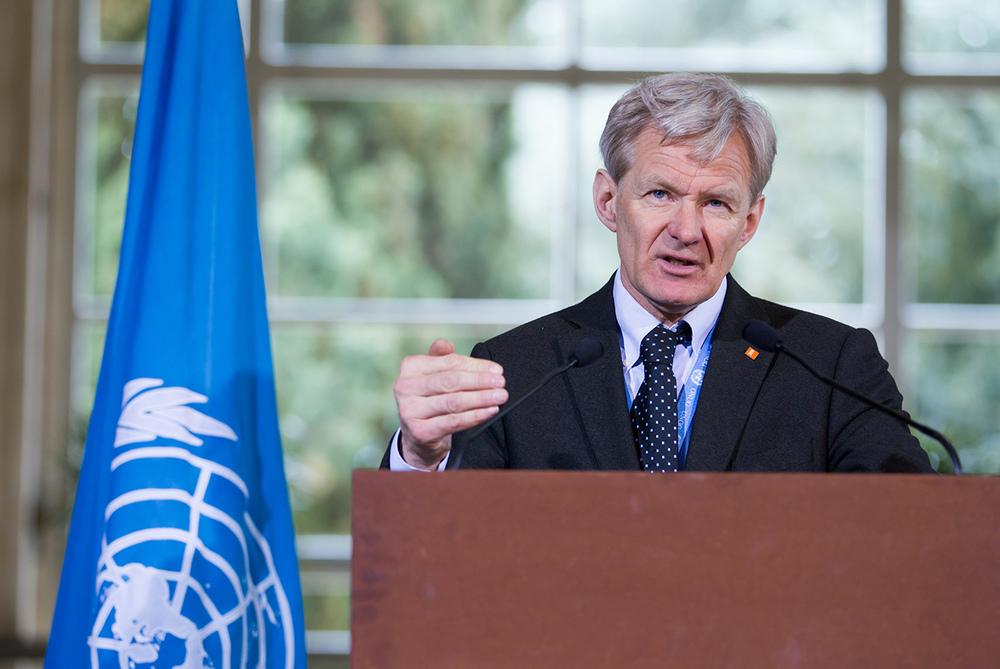 Jan Egeland, co-président de la task force humanitaire pour la Syrie. © UN Photo / Pierre Albouy / Genève, 7 avril 2016