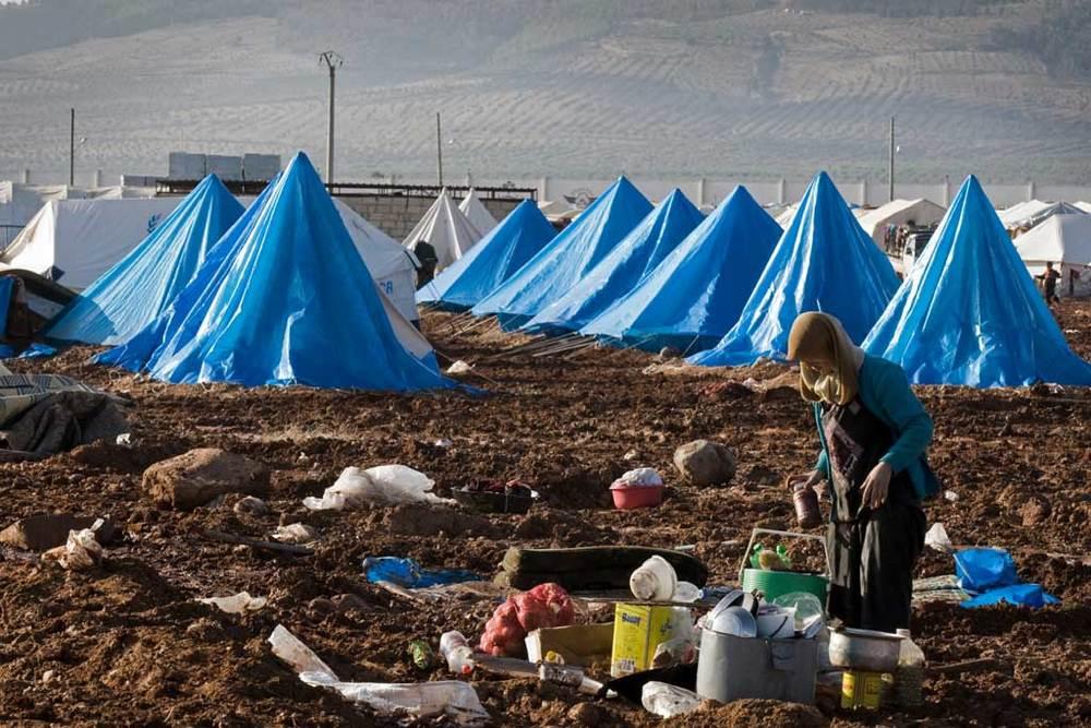 Le camp de déplacés de Bab Al Salame, près de la frontière avec la Turquie, dans le gouvernorat d'Alep, en Syrie. © OCHA / Archives