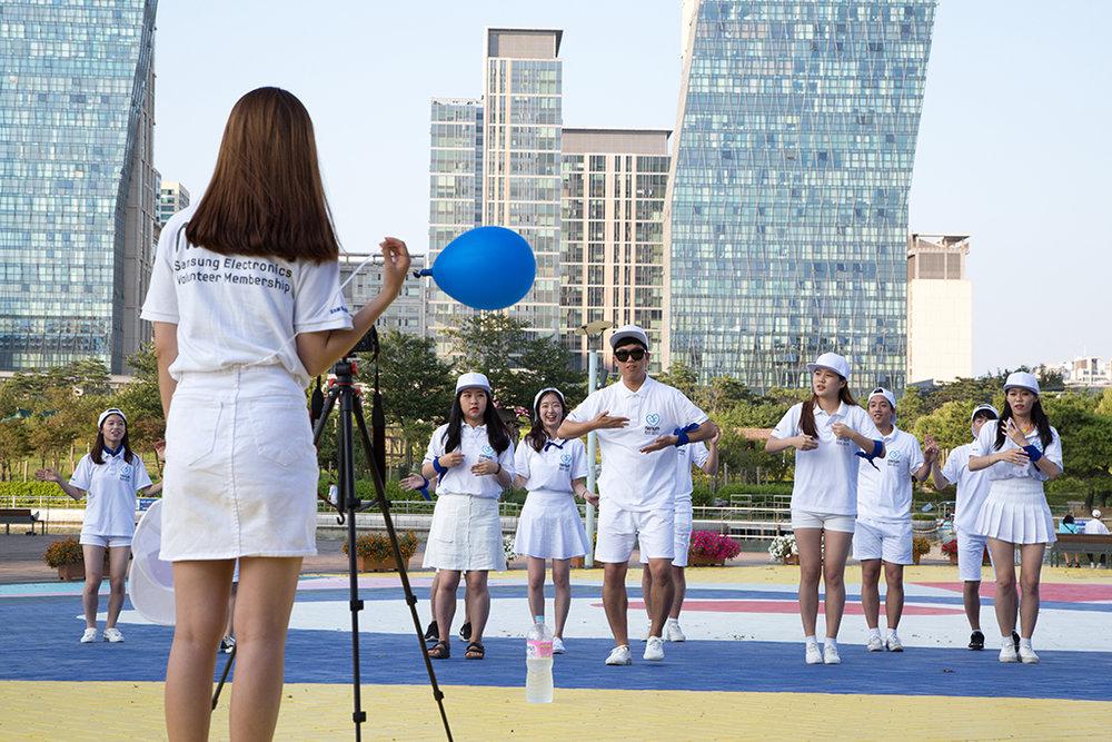 Les grands groupes, ici Samsung Electronics, organisent des activités pendant les congés. Les employés sont tenus d'y participer pour une meilleure intégration. © Stéphanie Buret / juillet-août 2016