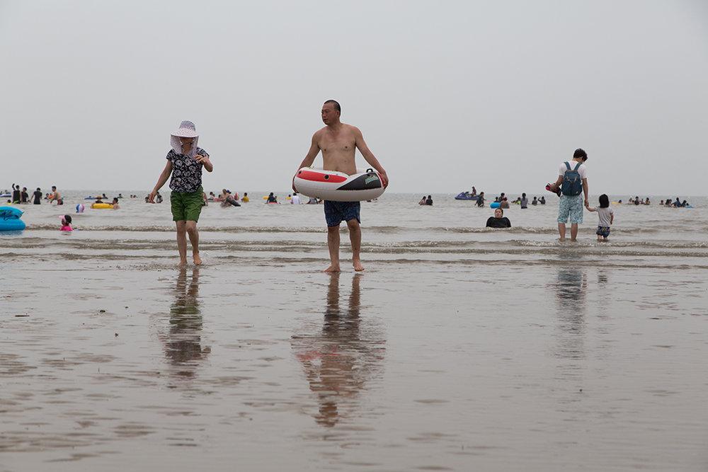 C'est sur l'île de l'aéroport que les habitants de Songdo vont à la plage. © Stéphanie Buret / juillet-août 2016