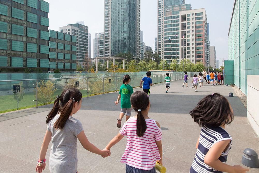 La prestigieuse école américaine Chadwick a une vocation internationale, mais la plupart des élèves sont Coréens. © Stéphanie Buret / juillet-août 2016