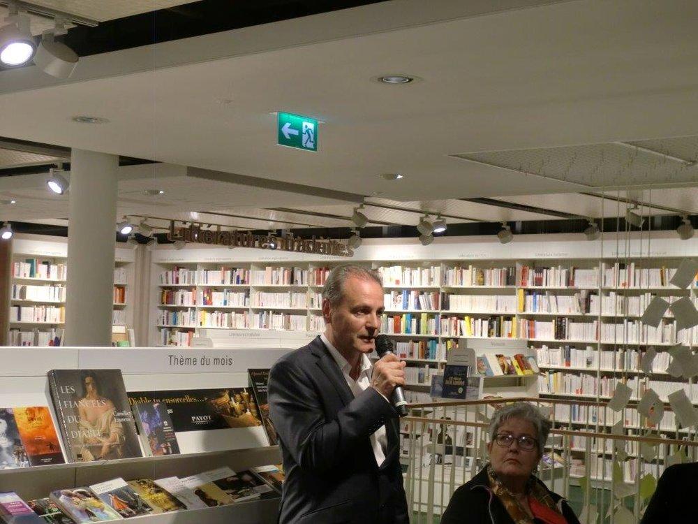 André Crettenand, auteur de Suisse, l'invention d'une nation. © Xavier Huberson / Payot / 27 octobre 2016