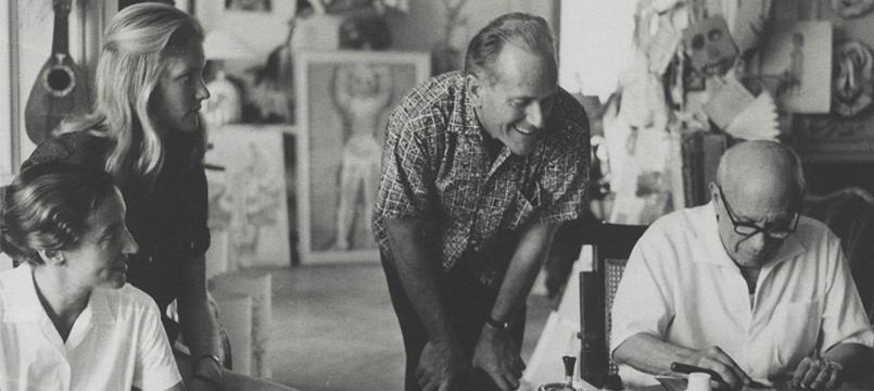 Gérald Cramer avec Pablo Picasso. © Courtesy Patrick Cramer
