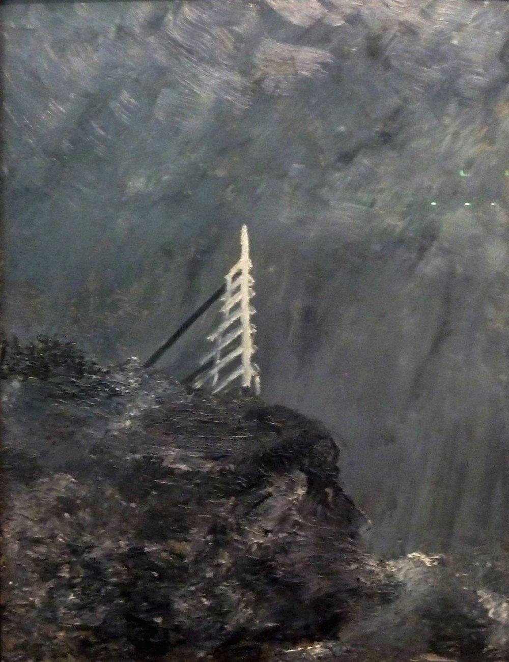 La jument blanche   , 1892  , huile sur carton  , Stockholm, Nationalmuseum
