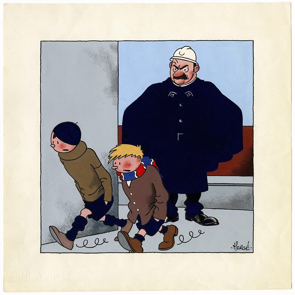 Les Nouveaux Exploits de Quick et Flupke, gamins de Bruxelles, 1934. © Hergé-Moulinsart 2016
