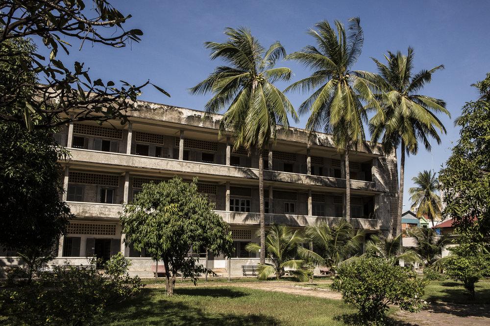 Lycée transformé dans le centre de torture S-21. © Alberto Campi / 1 janvier 2017