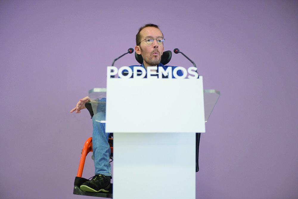 L'ex-député Pablo Echenique-Robba. © Dani Gago / Madrid, 19 septembre 2016