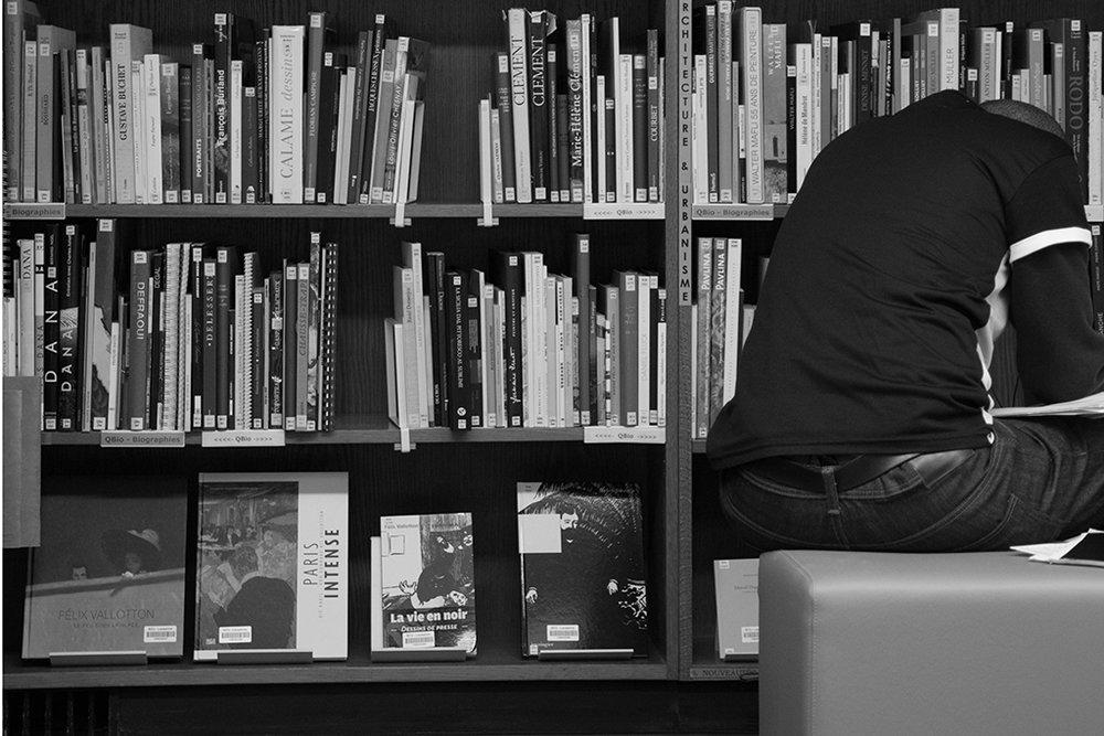 © Charlotte Julie / Bibliothèque de la Riponne / Lausanne, avril 2014