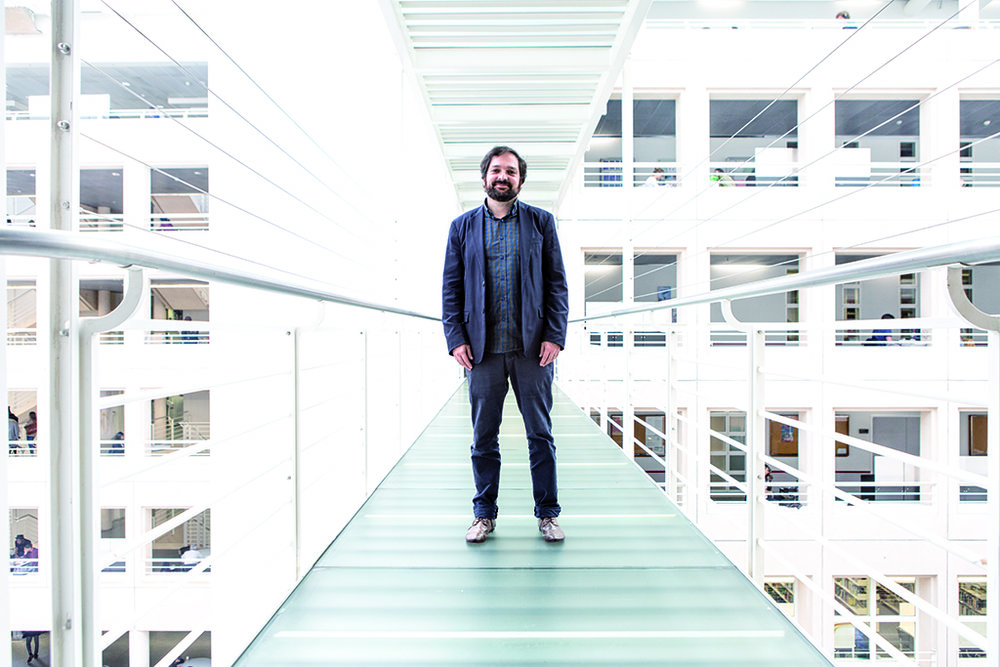 Stephan Davidshofer, expert en relations internationales, vu par © Alberto Campi / Genève, 2016