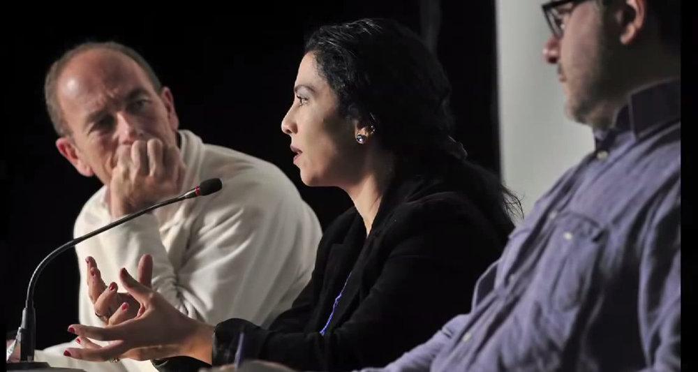 Image extraite de la vidéo de la conférence de Miret Zaki et Étienne Chouard, le 3 décembre 2011 à Genève