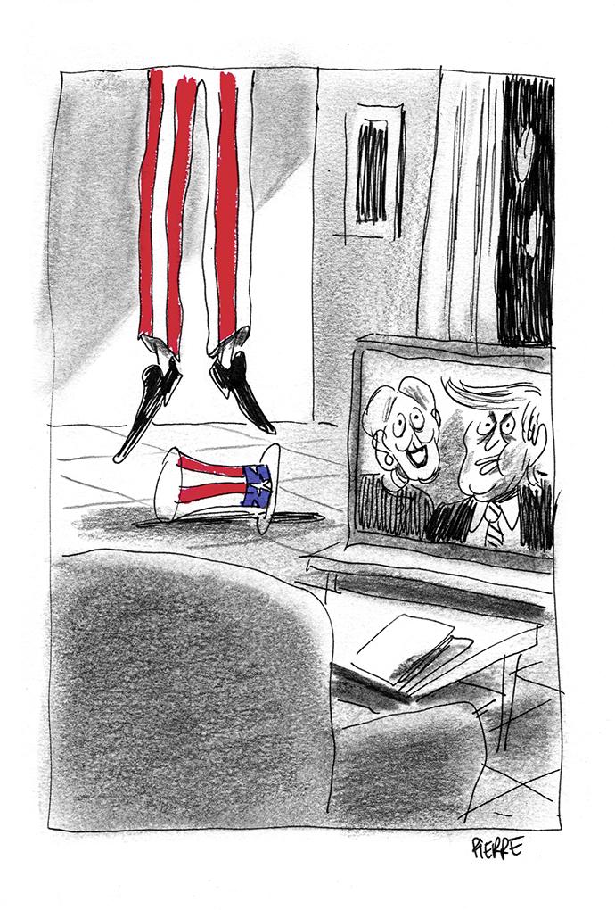 Aux États-Unis, la campagne présidentielle fait une victime collatérale. © Pierre Dubois / Novembre 2016