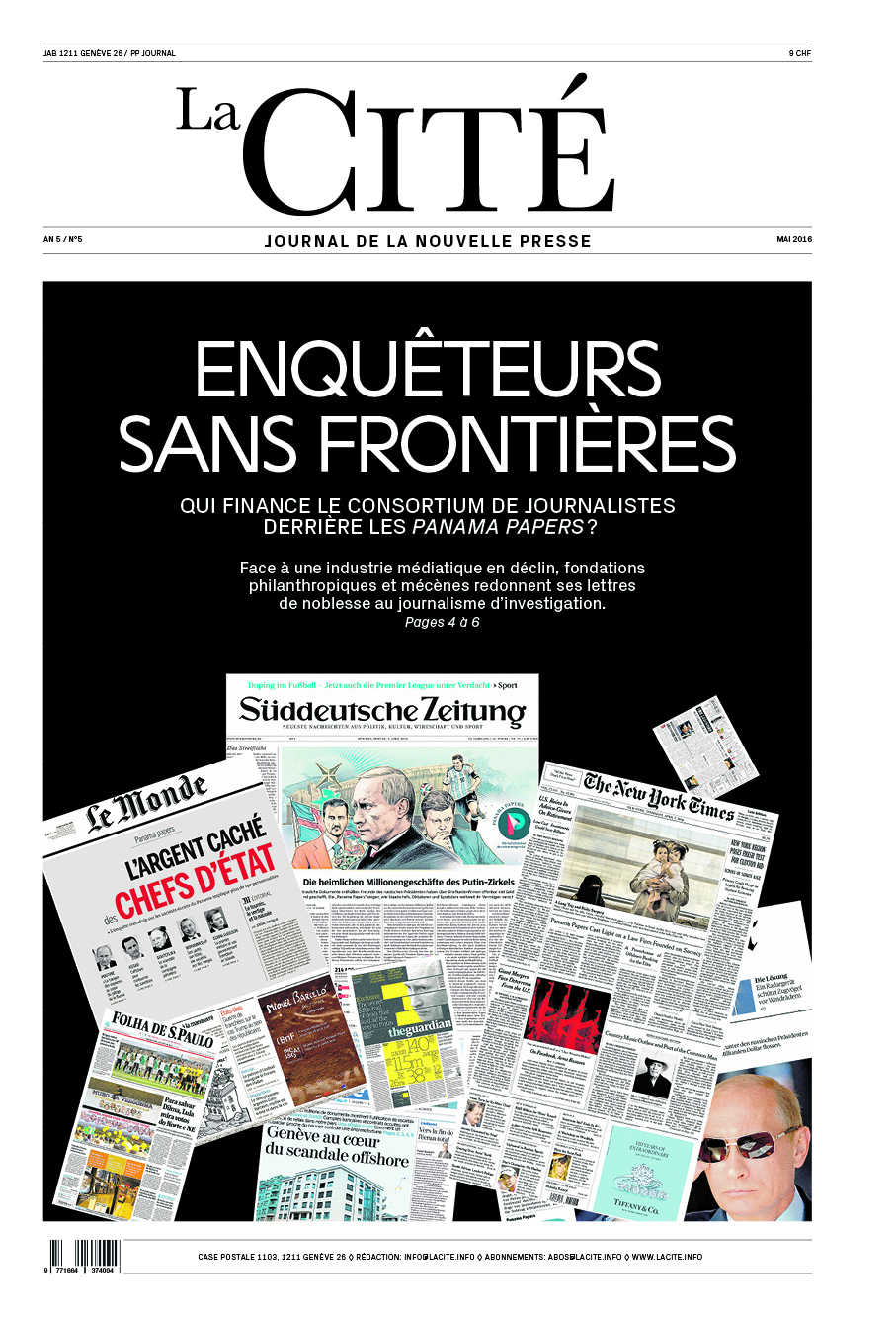 MAI 2016 - Édition n° 7324 pages