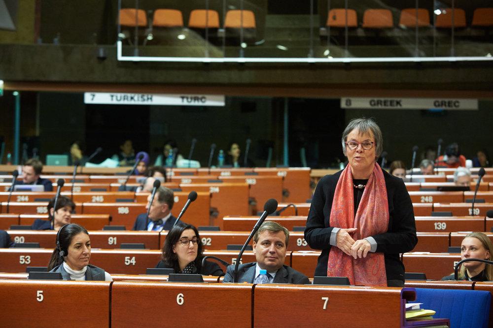 Liliane Maury Pasquier, conseillère aux États socialiste genevoise et membre de l'Assemblée parlementaire du Conseil de l'Europe. © Courtesy Cathérine Monfils / Conseil de l'Europe / 26 janvier 2017