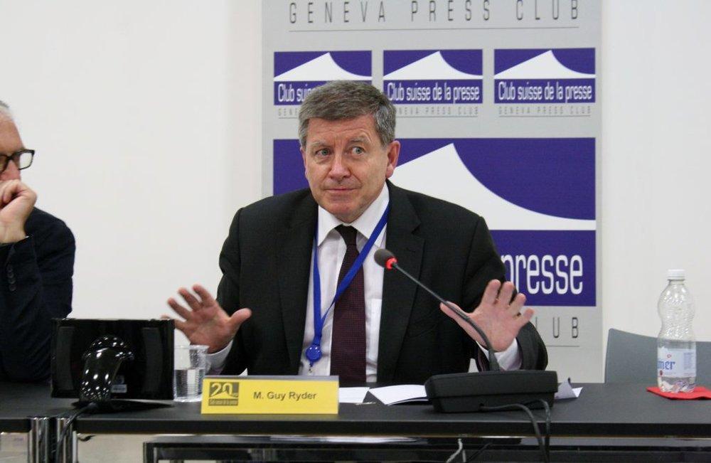 Guy Ryder, directeur général de l'Organisation internationale du travail (OIT), vu par © Tobias Clerc / Club suisse de la presse, Genève