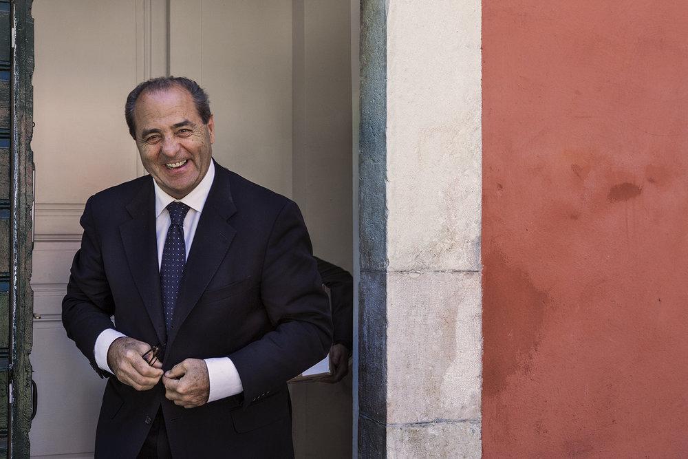 L'ex-juge Antonio Di Pietro au Club suisse de la presse à Genève. © Alberto Campi / 9 mai 2017