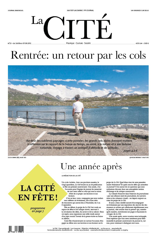 24 août 2012 - Édition n° 2324 pages