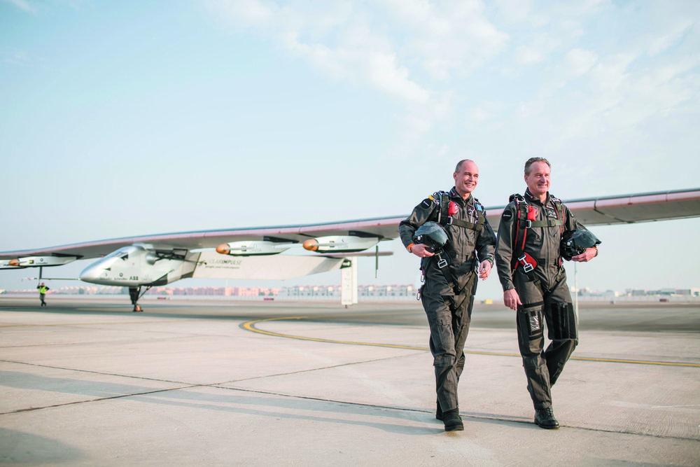 Bertrand Piccard et André Borschberg. © Solar Impulse, Ackermann, Rezo.ch