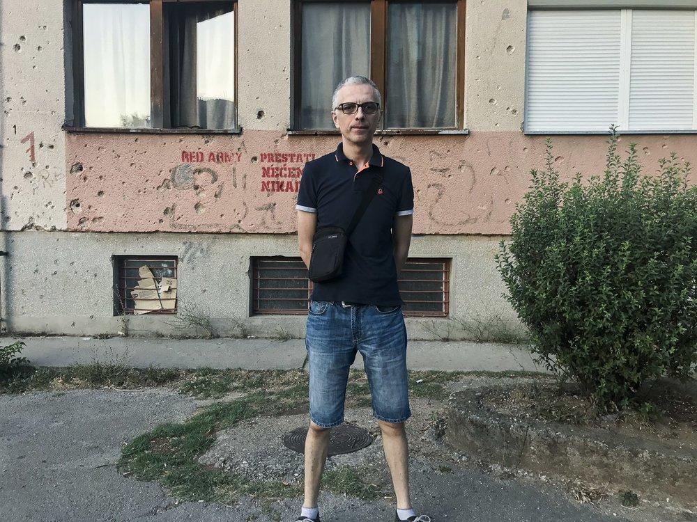 Mirsad Behram, journaliste à Mostar, Bosnie-Herzégovine, 2017.