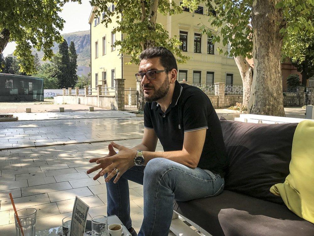 Igor Božović, journaliste, Mostar, Bosnie-Herzégovine, 2017