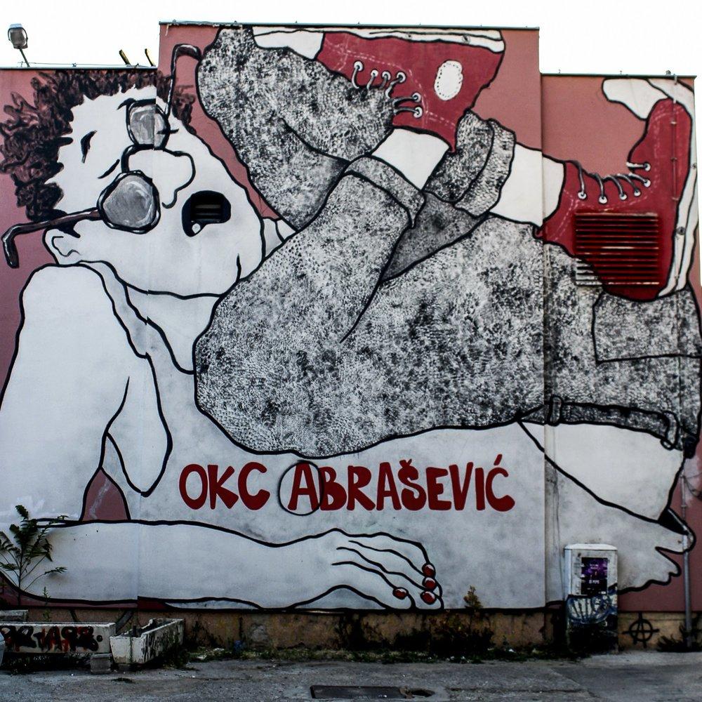 Le bâtiment du centre Abrašević à Mostar, Bosnie-Herzégovine, 2017. © Léa Le Breton / 2017